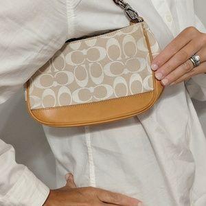 Coach vachetta & white signature purse